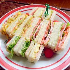 何も無くってもう帰って来る 茹でるのも炊くのも面倒だったのでお弁当用にあったサンドウィッチ用パン使っちゃおう(*´艸`) - 66件のもぐもぐ - Sandwichサンドウィッチ by Ami