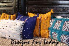 Moroccan handwoven & vintage pillows