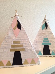 Teepee Pinata For Pow-Wow Birthday Party by bloombybre on Etsy https://www.etsy.com/listing/225606664/teepee-pinata-for-pow-wow-birthday-party