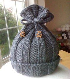 rib-knit baby hat & a free pattern… « Sorella & Company