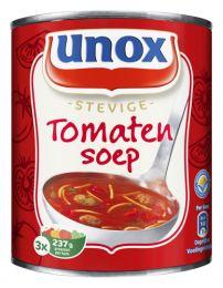 Stevige Tomatensoep (Unox) Voedingswaarde per 100ml: Energie 230 kj / 55 kcal, Eiwitten 2 g, Koolhydraat 8,5 g, suiker 5,5 g Vet 1,5 g Verzadigd Vet 0,4 g