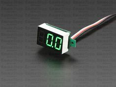 Mini 3-wire Volt Meter (0 - 99.9VDC) Put a voltage meter anywhere with this very handy display.