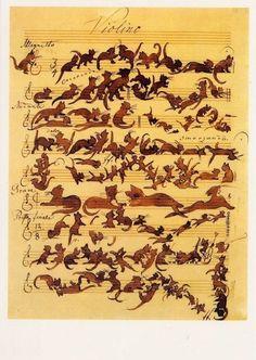 """The Cats Symphony,"" Moritz von Schwind | 12 Breathtaking Examples Of Sheet MusicArt"