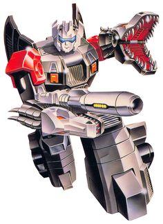 1980s Doublecross Transformers toy box art