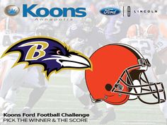 Play the KoonsFord.com Football Challenge Today. Pick the Winner & The Score and Win a $50 Visa Gift Card. This Weeks Game: Ravens vs. Browns.  Visit www.KoonsFord.com Its Free to Play!  #KoonsFord #YoureGonnaLoveIt #Love #theLounge #Annapolis #Baltimore #WashingtonDC #GlenBurnie #Crofton #Pasadena #SevernaPark #KentIsland #MDEasternShore #EasternShore #MDES #MD #AACO #AnneArundel #AnneArundelCounty