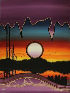 Kitigan -Peter Bighetty Wolf Pack,Sunset  $100.00 (http://www.kitigan.com/pack/)