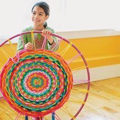 DIY Hula Hoop Rug