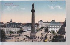 Louisenplatz mit Ludwigsäule, um 1915