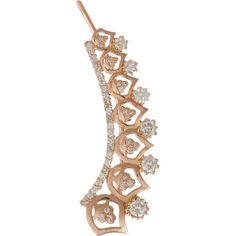 """Sara Weinstock Diamond & Rose Gold """"Spiked French Lace"""" Ear Cuff at Barneys.com"""