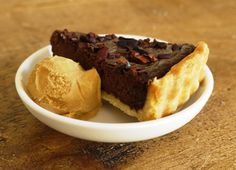 chocolate tart and salted caramel ice-cream, oh my what a combination!