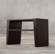 Wyeth Split Bamboo Rectangular Side Table - Overall: x x Warm Highlights, Storage Mirror, Furniture Vanity, Medicine Cabinet Mirror, Modern Shop, Home Hardware, Indoor Outdoor Rugs, Furniture Inspiration, Restoration Hardware