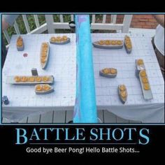 Great idea.  Move over beer pong