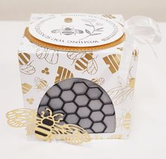 Diy Gift Box, Gift Boxes, Bee Boxes, Bee Cards, Tea Light Candles, Stamping Up, Cute Gifts, Poppies, Bumble Bees