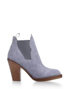 Grey Suede Ankle boots Women's - ACNE