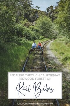 Rail bikes are a fun and exciting new way to experience Northern California's legendary redwood forest! Here are all the details on this  fun attraction in Mendocino County, California. #railbikes #california