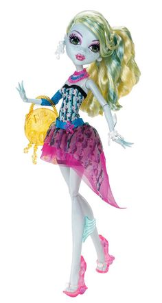 Lagoona in her darling beach ensemble.  Here you can see the fins on her arms and legs