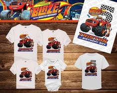 Blaze and the Monster Machines Personalized Birthday Shirt - Tshirt - Hoodie - Onesie - Mom - Dad - Sister - Brother - Birthday by TotheTCreations on Etsy Brother Birthday, Birthday Kids, 4th Birthday Parties, Blaze And The Monster Machines Party, Personalized Birthday Shirts, Dad To Be Shirts, Mom And Dad, Onesie, Birthdays