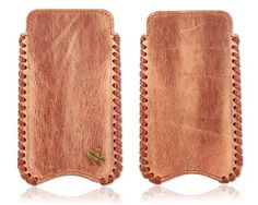 Leren iPhone hoesje Vintage look. Voor iPhone 4(s) & iPhone 5(s)