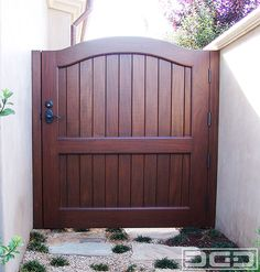 Less is more sometimes and this simple gate design is a true representation of… Wooden Garden Gate, Wooden Gates, Garden Doors, Side Gates, Front Gates, Entrance Gates, Simple Gate Designs, Fence Gate, Fencing