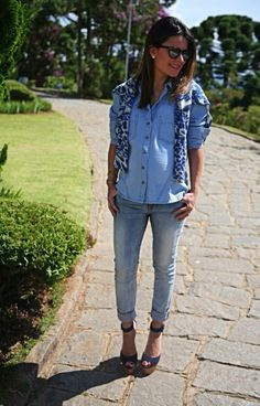 A Sophia Alckmin linda com a nossa camisa jeans e malha da coleção Inverno 2014.   Adoramos o look! ♡  #fillity #fillityinverno2014 #inverno2014fillity