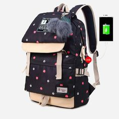 Anime USB Backpack For Laptop. Canvas BackpackLaptop BackpackEmoji BackpackTravel  BackpackSchool BackpacksGirl BackpacksHandbags ... cfddce6881