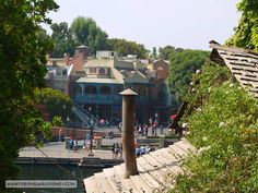 A view of New Orleans Square from the tree house on Tom Sawyers Island.