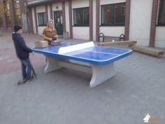 Pingpongtafel Afgerond Blauw bij Förderverein Diesterweg-Grundschule in Wernigerode