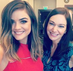 Lucy Hale mid length hair! Love her balayage colour.