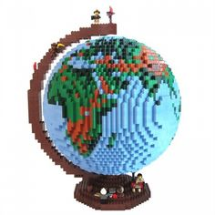 LEGO Globe by dirk b on MOCpages - http://www.mocpages.com - If you ♥ LEGO®, come and have a look at the crowdest LEGO® LOVE group board http://www.pinterest.com/yourfrenchtouch/lego-love #LEGO
