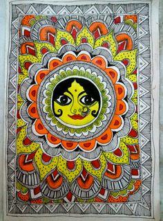madhubani sun by red-fairy-dust.deviantart.com on @DeviantArt