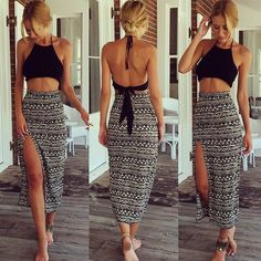 Sexy Printed two-piece dress