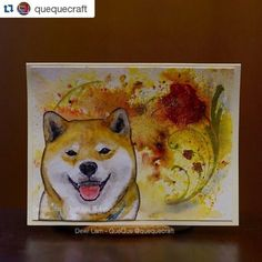 Beautiful painting of Ryuji the Shiba Inu from quequecraft!