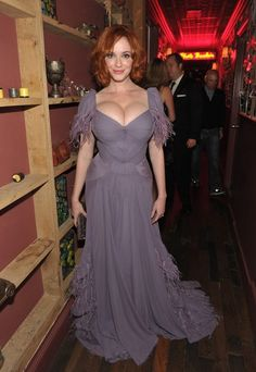 <b>Apparently this entire day is dedicated to that very-special area of a woman's chest.</b> To celebrate, here are 50 photos of Christina Hendricks' most-desirable set.