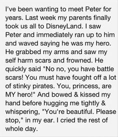 I love this.This girl is lucky that she found Peter Pan~