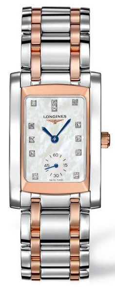 Longines Watch DolceVita Ladies #bezel-fixed #bracelet-strap-rose-gold #brand-longines #buckle-type-deployment #case-depth-8mm #case-material-pink-rose-gold #case-width-22-4-x-26-85mm #delivery-timescale-1-2-weeks #dial-colour-white #gender-ladies #luxury #movement-quartz-battery #official-stockist-for-longines-watches #packaging-longines-watch-packaging #sku-lng-164 #subcat-dolcevita #supplier-model-no-l5-502-5-88-7 #warranty-longines-official-2-year-guarantee #water-resistant-30m