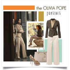 the Olivia Pope pantsuit by jenesaisquoilifestyle on Polyvore featuring мода, Roberto Collina, Vivienne Westwood, The Row, Christian Louboutin, Prada and thepantsuit