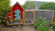 This is my first attempt of the Urban Gnome chicken coop design. It was inspired by trips to Solvang Carmel, CA. It houses Ethel (Light Brahma hen) Elsie (Black Sex Link hen). Cute Chicken Coops, Chicken Coop Designs, Chicken Coup, Custom Woodworking, Woodworking Projects Plans, Light Brahma, Animal Habitats, Raising Chickens, Urban Farming
