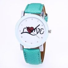 ZhouLianFa Newest Hot Quartz Watch Women Casual Lovely Heart Pattern Faux Leather Strap Quartz Analog Wrist Watches