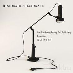 PROFI Cast-Iron Sewing Factory Task Table Lamp 3dsMax 2010 + obj (Vray) : Table lamp : 3dSky - 3d models
