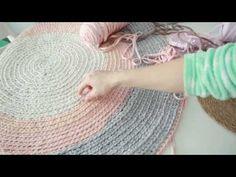Tutorial de alfombra de trapillo a ganchillo (PARTE 1) - YouTube