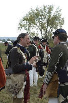 Reenactment of the American Revolution's Battle of Saratoga