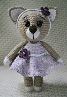 #crochet, Lady cat, free amigurumi pattern, stuffed toy, #haken, gratis patroon (Engels), kat, knuffel, speelgoed, #haakpatroon