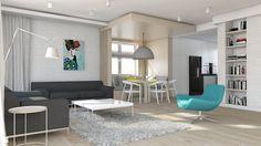 Salon styl Skandynawski - zdjęcie od BAGUA Pracownia Architektury Wnętrz - Salon - Styl Skandynawski - BAGUA Pracownia Architektury Wnętrz