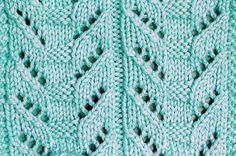 Totem Pole Lace Stitch ~ KnittingGalore