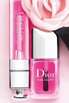Dior Addict  lip glow nail glow ,  For a perfectly natural look, this illuminating gloss and polish provide your lips and nails with that little extra something that really can make all the difference.