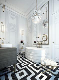 Ando Studio é uma agência de imagem digital fundada pelo arquiteto Aziza Oren e pela designer Anna Epstein em 2011. Eles projetaram este elegante apartamento em 2013 para um cliente, em Paris, França .  Visite: http://www.ando-studio.co.il/