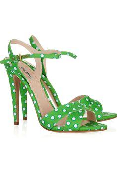 polka dot sandals