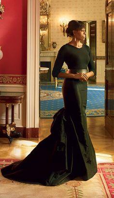 Michelle Obama Evening Dress Black