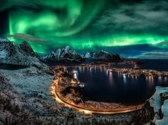 Norway's Lofoten archipelago is made up of six main islands and hundreds of smaller ones, set beneath the shimmer of the Northern Lights. With their clear blue waters and craggy Jurassic Park-esque mountains—the highest of which, Higravstinden, soars to 3,800 feet—it's no surprise that the islands have inspired many artists. —Karen Gardiner