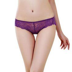 Sheer Panties Lace Floral Womens Sexy Thongs G-string T-back Panties Transparent Lingerie Underwear Calcinha Renda #1227